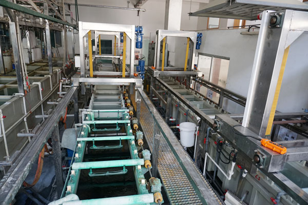 Barrel plating line automation